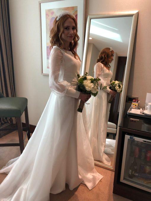 Beyaz Butik Kiralık Evden Çıkış Elbisesi