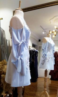 Mavi Mini Kiralık Elbise Modelleri