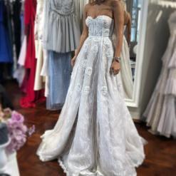 Özgül Engin Beyaz Kiralık Elbise