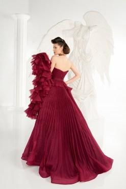 fouad sarkis bordo kiralık kına elbisesi