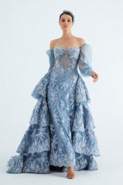 Sagaza Mavi Kına Elbisesi