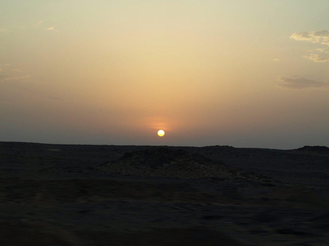 Amanece camino de Abu Simbel