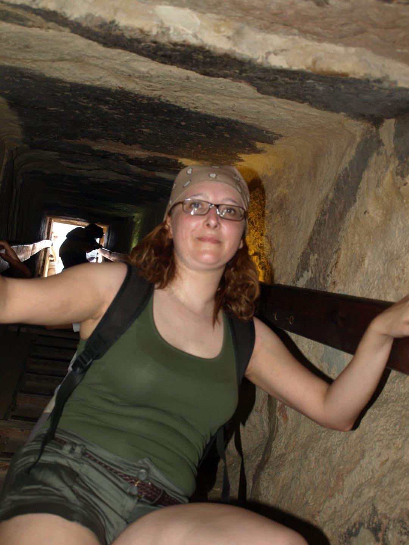 Bajando al interior de la Gran Pirámide