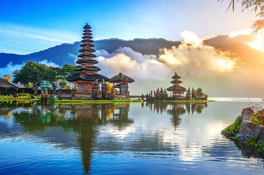 Templo Ulun Danu Batur en Bali