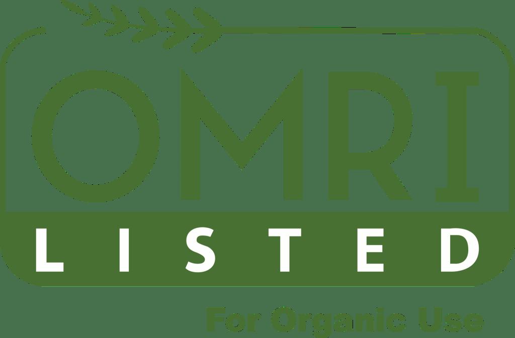 Certificado OMRI (Organic Materials Review Institute).