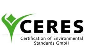 Certificado CERES (Certification of Environmental Standars GmbH).