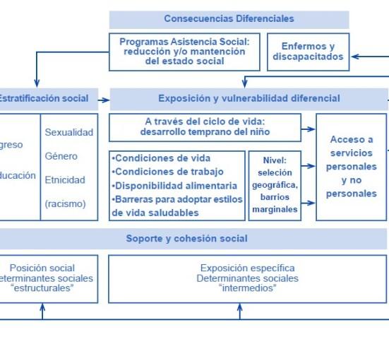 Marco conceptual de los determinantes sociales de la salud propuesto por el Equipo de Equidad de OMS
