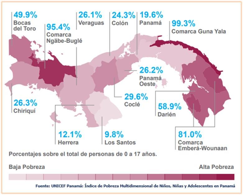 Porcentaje de personas en PM por provincias y comarcas