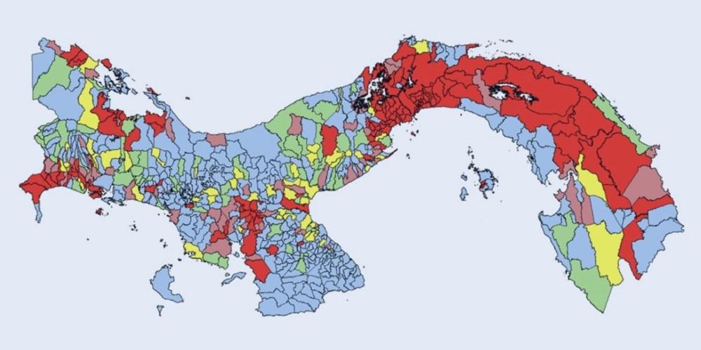 Mapa Panamá julio
