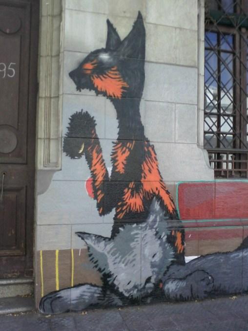 gatos muralla