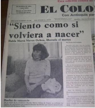 Liberación de Martha Nieves Ochoa