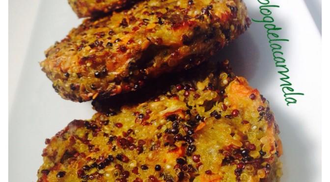 Hamburguesas de quinoa y berenjena receta vegetariana