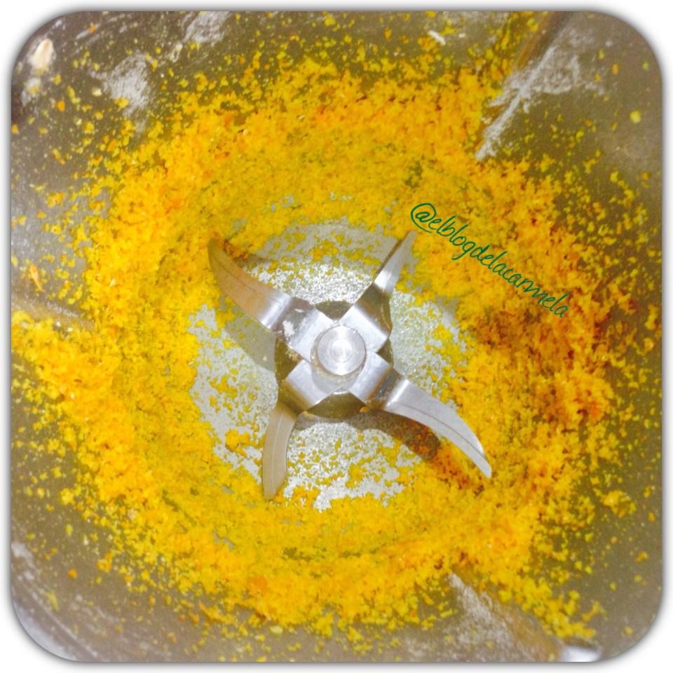 cascara de naranja rallada