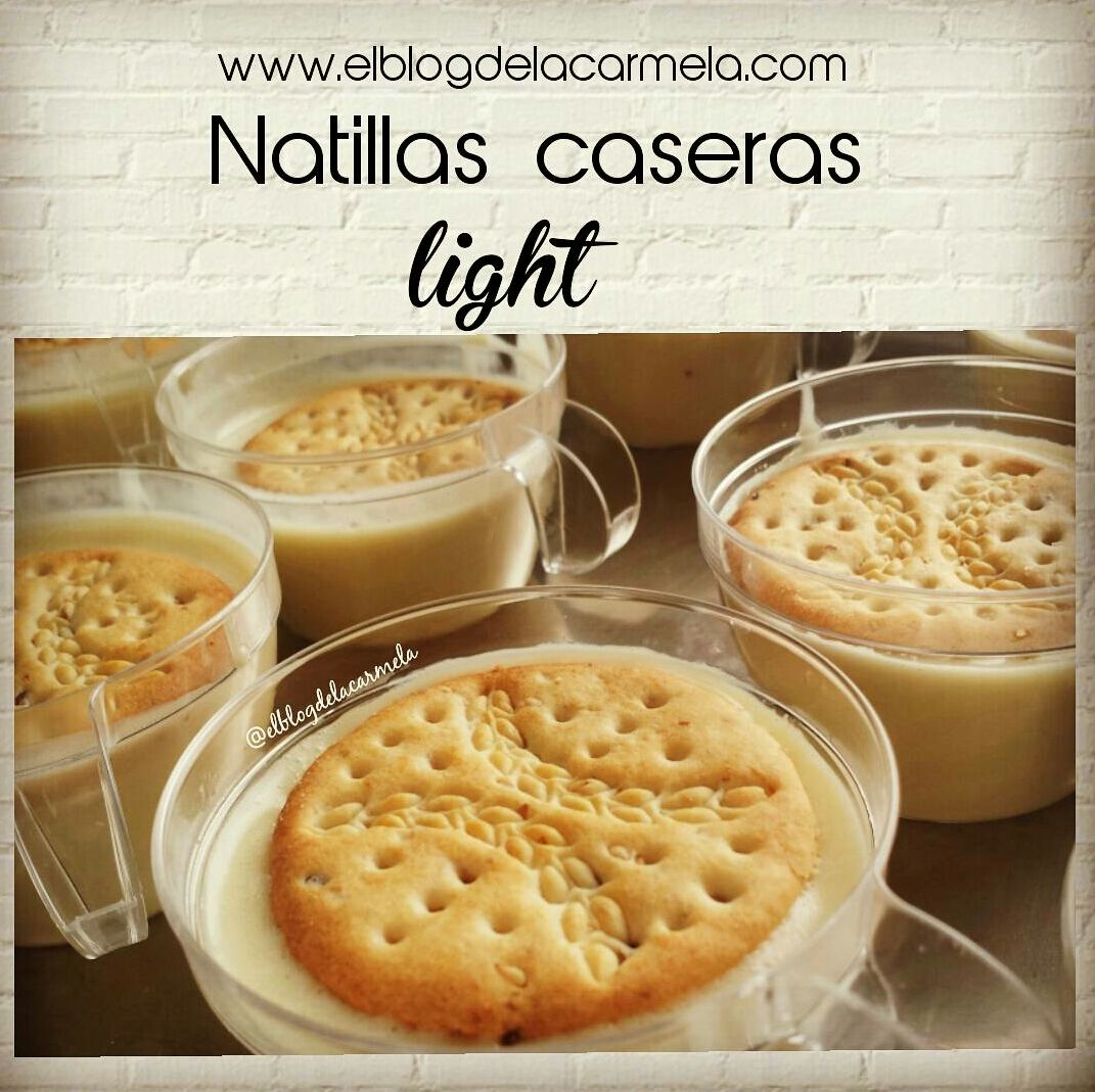 Natillas light - receta con thermomix