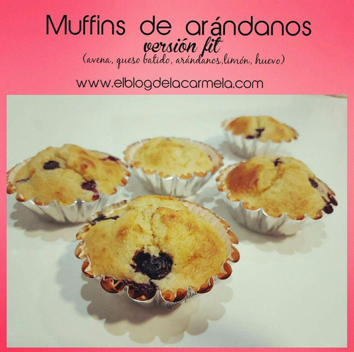 Muffins fit de arándanos y limón