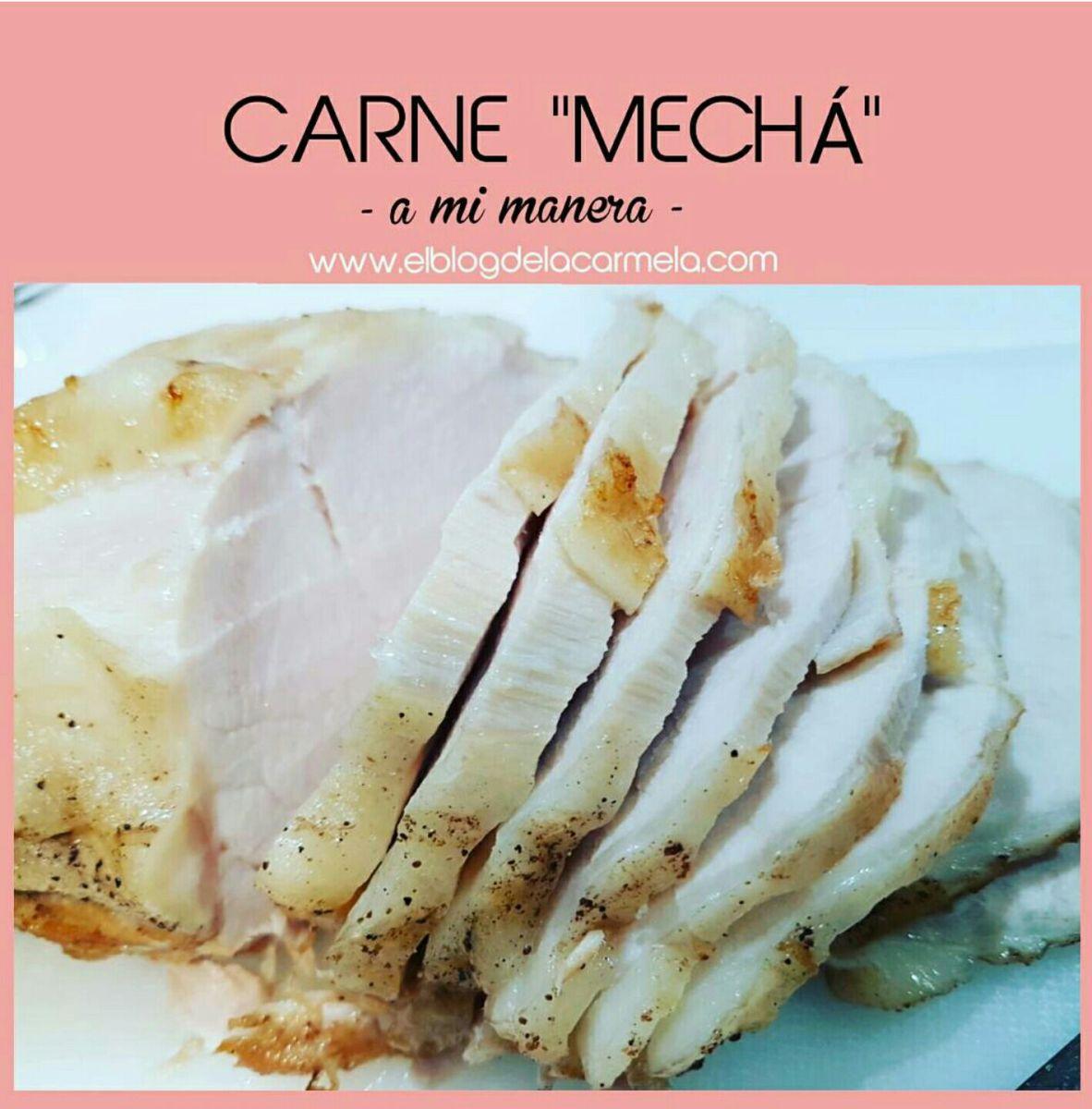 "Carne mechada (o carne ""mechá"", como se dice en mi tierra) - en olla rápida"