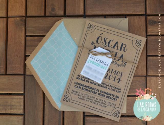 BODAS | Invitaciones de boda: Óscar & Núria