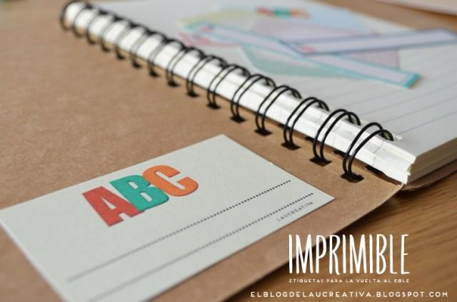 IMPRIMIBLE | Etiquetas para los libros y libretas para la vuelta al cole