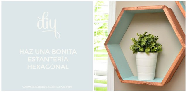 diy-bonita-estanteria-hexagonal