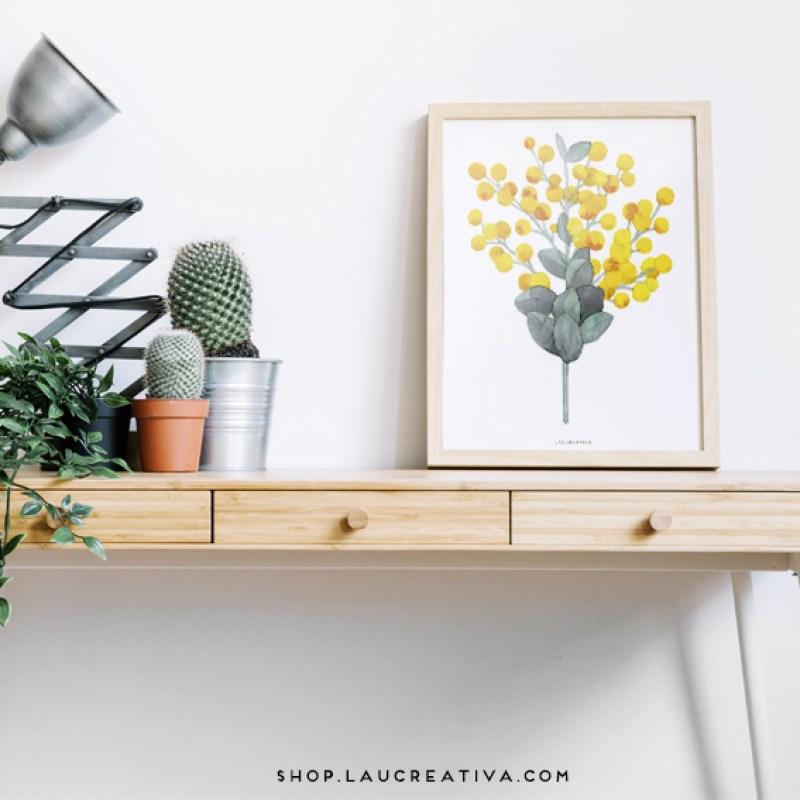 laminas-poster-nordic-design-craspedia-eucaliptus-Laucreativa