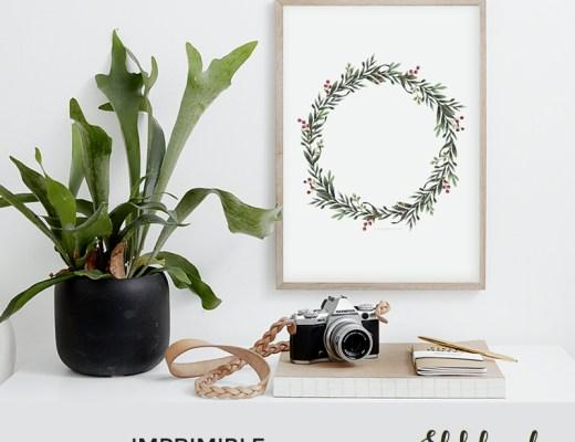 IMPRIMIBLE | Descarga nuestra lámina de una corona de Navidad-El blog de Laucreativa