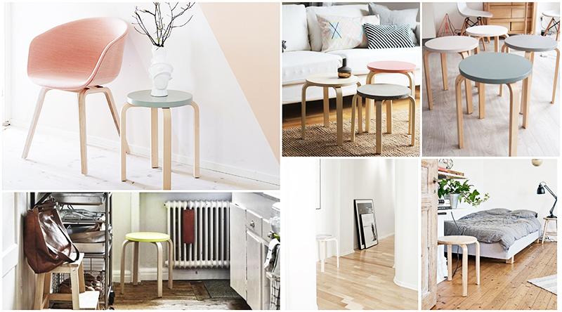 17 diy y manualidades con muebles para hacer en casa - tabuerete frosta de Ikea