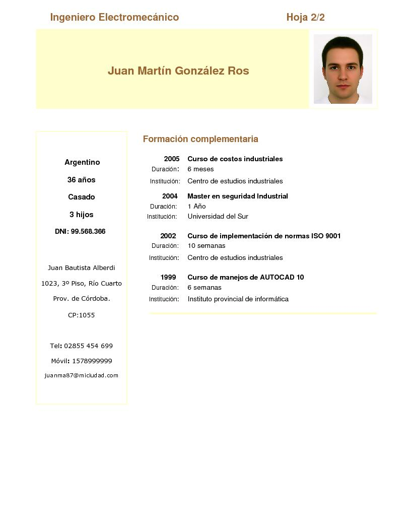 Curriculum Vitae Ejemplos Cronologico How To Write A Great Summary