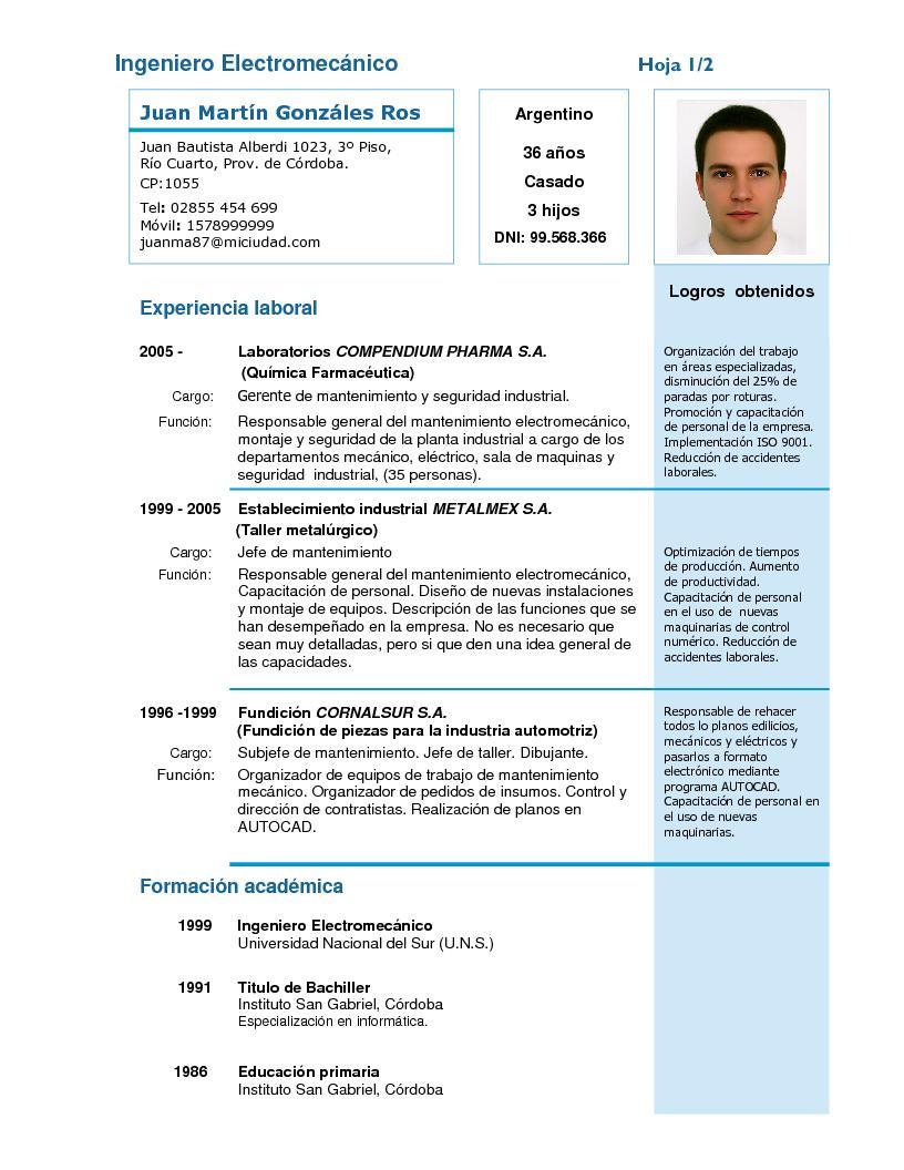 Excelente Formato De Curriculum Cajero Modelo - Colección De ...