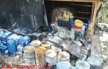 Desmantelan laboratorio de drogas sintéticas en Michoacán