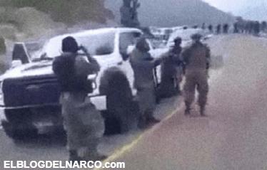 Vídeo del poderoso ejercito del CJNG; Así se pasean en caravana de camionetas de lujo y bien armados en la sierra de Nayarit