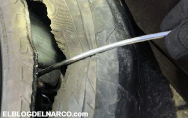 Dos traficantes mexicanos fueron detenidos mientras transportaban crystal en las llantas de una camioneta