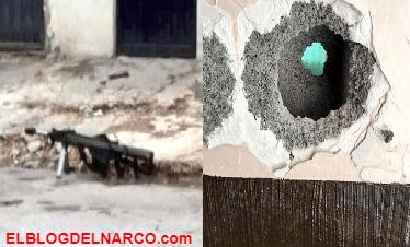 Durante balacera y persecución entre el CDN y militares una bala de Barret Calibre 50 perfora pared y lesiona a un civil en Nuevo Laredo