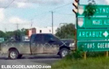 Graban caravana de narcos en Reynosa