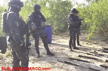 Localizaron un arsenal escondido bajo tierra en Tamaulipas