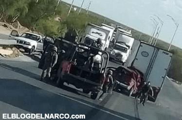 Se registra persecución y balacera entre sicarios del CDN y elementos de la SEDENA en Tamaulipas.
