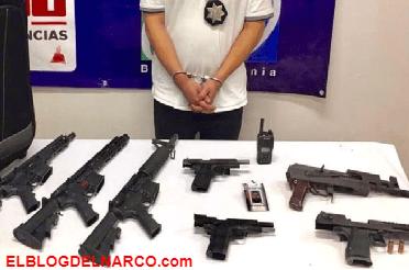 """Detienen a sicario y escolta de """"El Chapo Leal"""" con arsenal"""