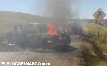 Dos grupos rivales del narco se topan y arman tremenda balacera dejando 5 muertos, vehículos calcinados y hasta dejaron a 2 decapitados en Chihuahua