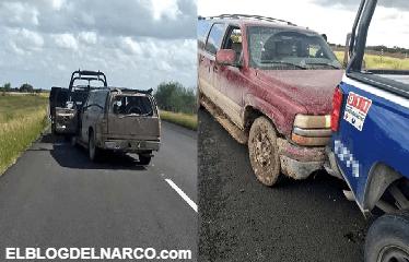 Sicarios chocan patrulla de policías y salen huyendo disparando en autopista Reynosa a Nuevo Progreso