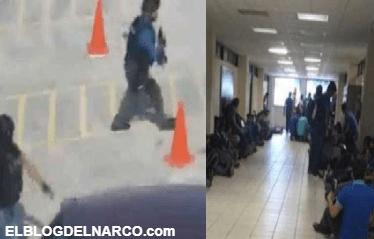 Enfrentamiento entre narcos y policías en universidad de Tamaulipas