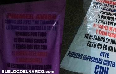 dicen que ya estan en Nuevo León y mandan mensaje al CDG y Zetas Vieja Escuela