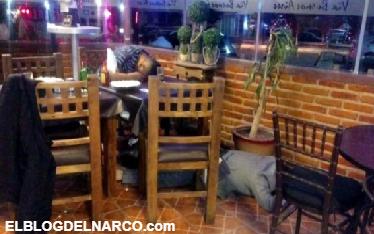 Ejecutan a tres hombres en un restaurante en el Estado de México
