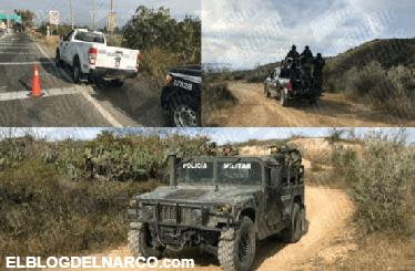 Encuentra enterrado camión que grupo armado robo con botín de 118 millones de pesos