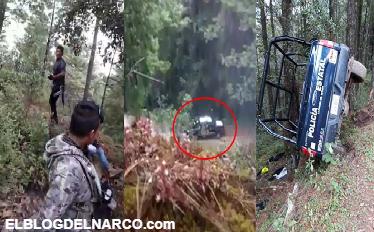 Fue una lluvia de balas no tuvieron tiempo de defenderse, Sicarios grabaron el momento en que emboscan y acribillan a 4 policías (VÍDEO)