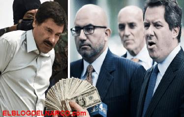Revelan la millonaria suma que El Chapo paga a sus abogados por defenderlo