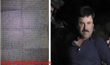 """La carta de amor de """"El Chapo"""" Guzmán a una de sus amantes"""