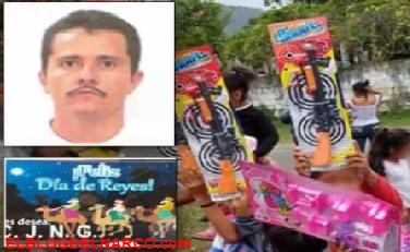 Sicarios del CJNG reparten armas de juguete por Reyes a nombre de El Mencho