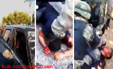 Sorprende grabación de soldados atendiendo a sicario tras enfrentamiento (VÍDEO)