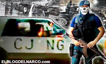 Graban al CJNG mostrando su poderío armado en calles de Apatzingán (VÍDEO)