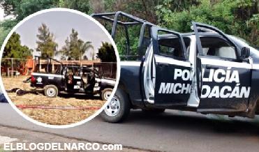 Estremecen imágenes de policías abatidos tras enfrentamiento en Michoacán