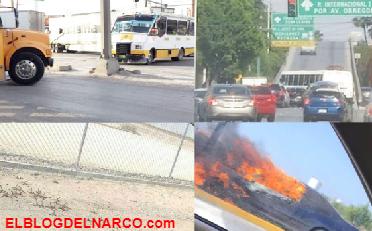 Lideres del Narco en Nuevo Laredo, por miedo hacen Narcobloqueos(IMÁGENES)